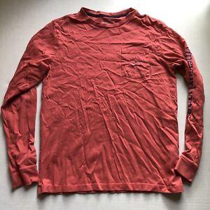 Vineyard Vines Red Blue Long Sleeve Whale T-Shirt Boys Sz L A169