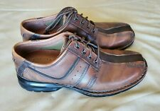 CLARKS Touareg 70852 Mens Size 10.5 M Brown Chestnut Leather Casual Oxford Shoes