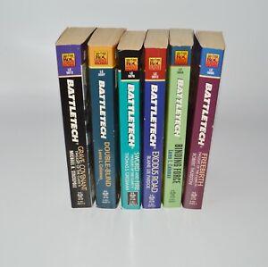 Battletech Book Lot of 6 FAFSA Co. ROC Books Paperback 1997 1998