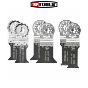 FEIN 6 Piece Starlock E-Cut Wood/Metal Multi-Tool Function Blade Set-35222952300