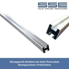 Montageprofil 40x40mm Alu Solar Photovoltaik Montageschiene / Profilschiene 2m