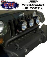Jeep Wrangler JK  Black Front Light Bar Tube 2007-2017 11232.20 Rugged Ridge
