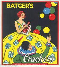 GENUINE LABEL VINTAGE FIRECRACKERS 1930S CIRCUS CLOWN BALLOONS ART DECO SKIRT