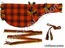 Piper Bag cover, Ribbon & Cord Tartan Orange Blue Red R0047