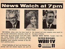 1964 WAII tv ad ~ Bill McCain/Eleanor Knight/Paul Daugherty/News/Atlanta,Georgia