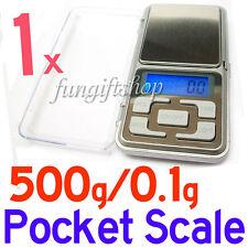 1 x Mini Digital Pocket Scale 500g-0.1g Weight Gram Weighing LCD Display F1