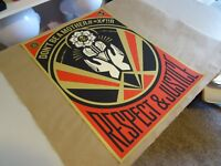 "2015 Obey Giant Shepard Fairey ""Don't Be A MFR ART PRINT STREET PASTER POSTER  1"