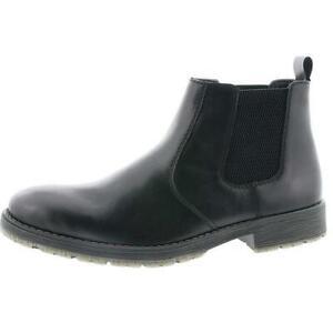 RIEKER 33354-00 Black Leather Chelsea Boots
