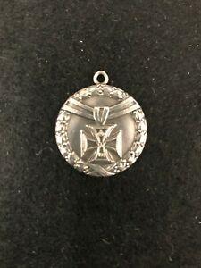 WW1 German Iron Cross Silver Commemorative Miniature Medal Fob