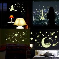 Children Kid room Luminous Wall Sticker Home Decor Glow In The Dark Star Decal
