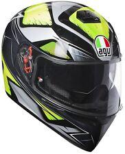 Agv K3 SV Liquefy Grigio Giallo motociclo Casco MS 57cm