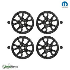 "07-17 JEEP WRANGLER 18"" WHEEL RIM & CENTER CAP SET OF 4 JET BLACK OEM MOPAR"
