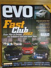 Evo No 53 Mar 2003 Alfa 147 GTA, Mazda RX8, Mitsubishi Evo VIII