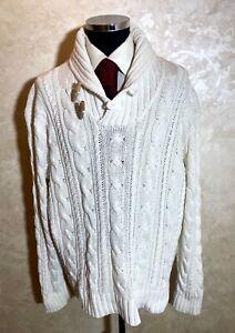 Ralph Lauren Polo White Heavy 62% Linen, 38% Cotton Sweater Size XXL