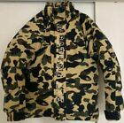 A BATHING APE Down jacket Snowboard 1st camouflage size S color green outerwear