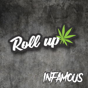 Roll Up Weed Sticker Decal 420 Dope Car Funny