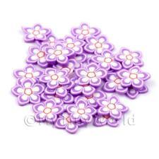 2x 50 rebanadas de caña de Flor Violeta-Arte en Uñas (dns69)