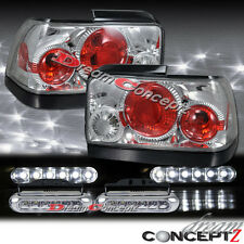 1993-1997 TOYOTA COROLLA TAIL LIGHTS CHROME L.E.D DAYTIME RUNNING LIGHTS