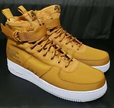 Nike SF AF1 Mid Air Force Desert Ochre/White Canvas Leather 917753-700 Men Sz 13