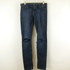 Guess Jeans Foxy Skinny Leg Distressed Ripped Dark Wash Stretch Size 29