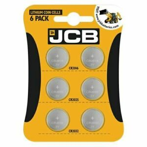 6 X JCB CR2032 CR2025 CR2016 3V Lithium Button Coin Cell Battery