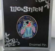 Disney Lilo & Stitch Stay Weird Enamel Stitch Pin New on Card