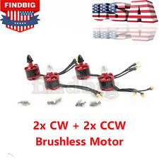 4pcs 2212 920kv Brushless Motor For Quadcopter Drone 2x CW 2x CCW 2-3s 7-12v USA