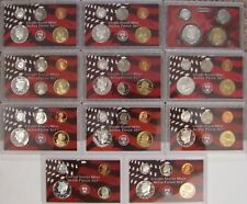 1999 TO 2009 SILVER PARTIAL PROOF SETS  no box or COA   11 SETS TOTAL