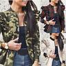 Women Long Puff Sleeve Jacket Ladies Ruffle Slim Zipper Blazer Outwear Tops Coat