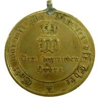 German Commemorative Medal 1870-71 Bronze Franco Prussian War Kaiser William I