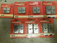 ridgid pipe threader die set (7 sets)