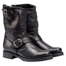 NIB Frye Veronica Short Leather Boot Women's 7.5 MED Biker Black 3476509 NEW