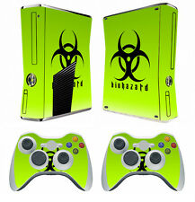 Biohazard 253 Vinyl Decal Skin Sticker for Xbox360 slim and 2 controller skins