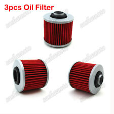 3x Oil Filter For Yamaha TT600R XT600E YFM600 XVS125 XVS400 XV535 SR400 SR500