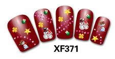Nail art stickers bijoux d'ongles: Bonhommes de neige - étoiles - boules