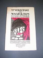 Illustré moderne Mme Verdoyant par Monsieur Plum 1920 Ill. G.Roux et G.Hag signé