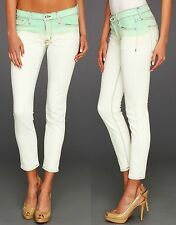 $189 NEW Hudson sz 27 Jeans Krista Super Skinny Crop Pale Jade Pants Women Girl