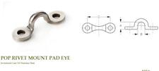 "SEA-LECT DESIGNS Cast Stainless Pad Eye 3/8"" Pop Rivet - For Canoe/Kayak/Boat"