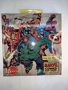 Men's Marvel 15 Days of Socks Advent Calendar - Assorted Colors, Fits Sizes 6-12