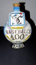 Jim Beam 100th Anniversary Baseball Decanter Bottle - 1869 to 1969 - Regal China