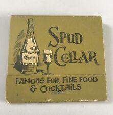 Old Matchbook Spud Cellar Fine Food Perris CA