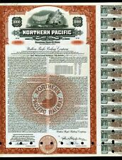 1954 Northern Pacific Railway Co - Bond BEAUTIFUL Genuine Stock certificate