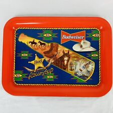 """Vintage Budweiser Beer Bud Round Up Tray Western Collectible 17 1/2"""" x 12 3/4"""""""