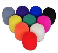 10x Colorful Handheld Stage Microphone Karaoke Windscreen Sponge Foam Mic Cover