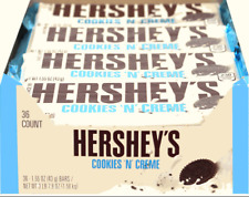 NEW!!!HERSHEY'S Cookies 'n' Creme Candy Bar, 1.55 Ounce (Pack of 36)(08/2019)