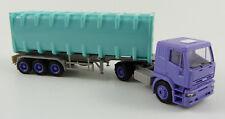 IVECO container-autoarticolati NEUTRO VIOLA-TURCHESE Herpa 143073 1:87 h0 OVP [ba6]