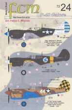 FCM Decals 1/72 CURTISS P-40 WARHAWK Fighter Part 2