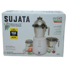 Sujata Dynamix 900 W Mixer Grinder with 3 Jars, 220 V Express Shipping