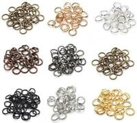 4-8mm Gold & Silver Plated Open Metal Jump Ring Findings Diy For JEWELRY Making