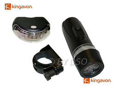 Kingavon Front and Rear LED Bicycle Bike Lamp Set UK STOCK FAST DISPATCH